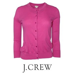 J Crew Clare Pink Cardigan Sweater Size XS